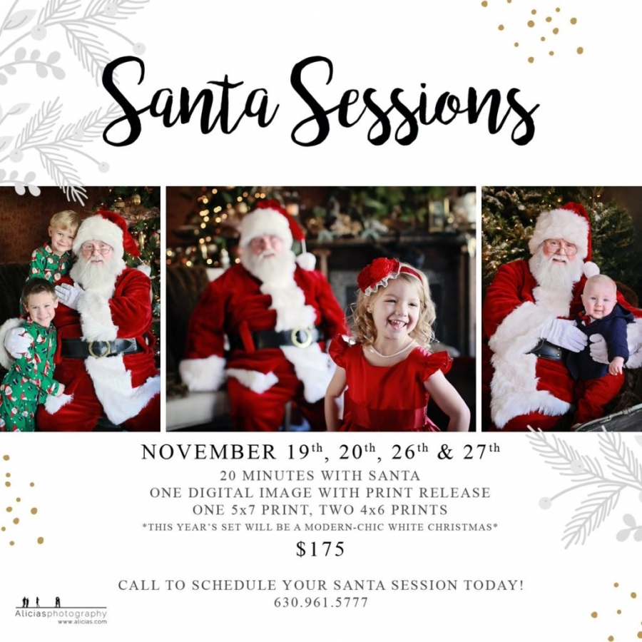 Santa Clause Photography Photo Sessions 2016 Naperville Chicago Hindale Oak Park Evanston OakBrook Wheaton Glen Ellyn